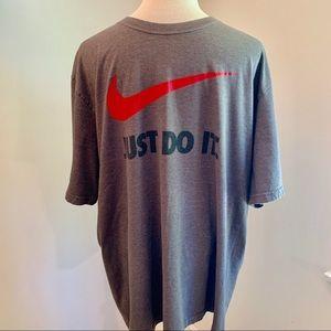 Nike Just Do It Swoosh T-Shirt In Gray Sz XXL
